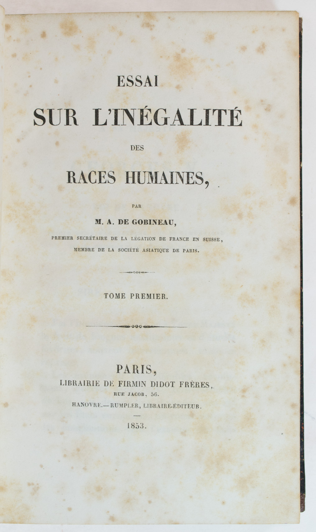 gobineau essay on the inequality of human races