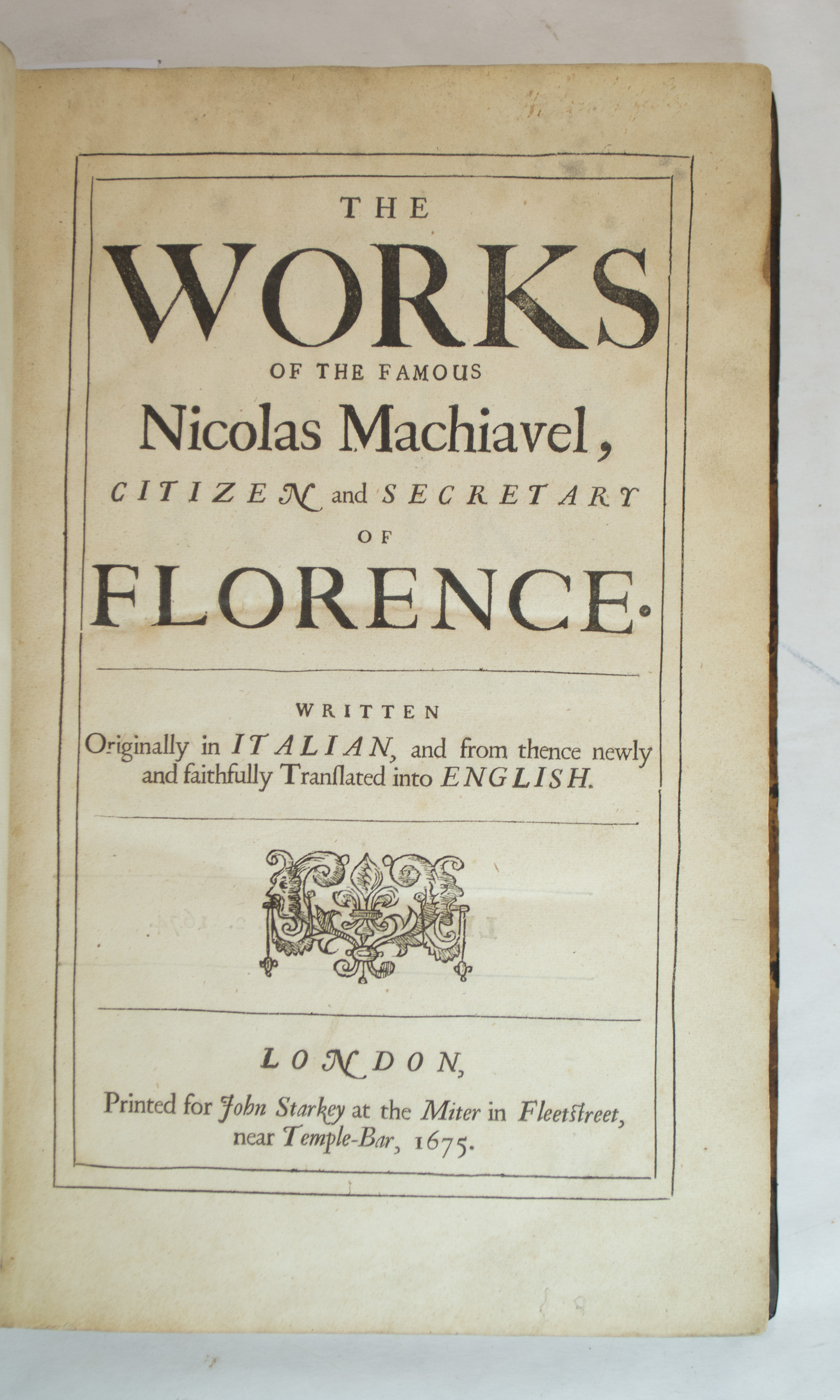 the works of niccolio machiavelli The prince [niccolo machiavelli]  in addition to the text of _the prince_, this edition also includes two shorter historical works by machiavelli,.