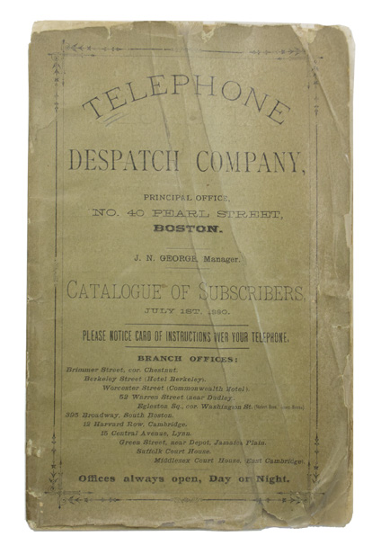 TELEPHONE DIRECTORY. - Telephone Despatch Company.
