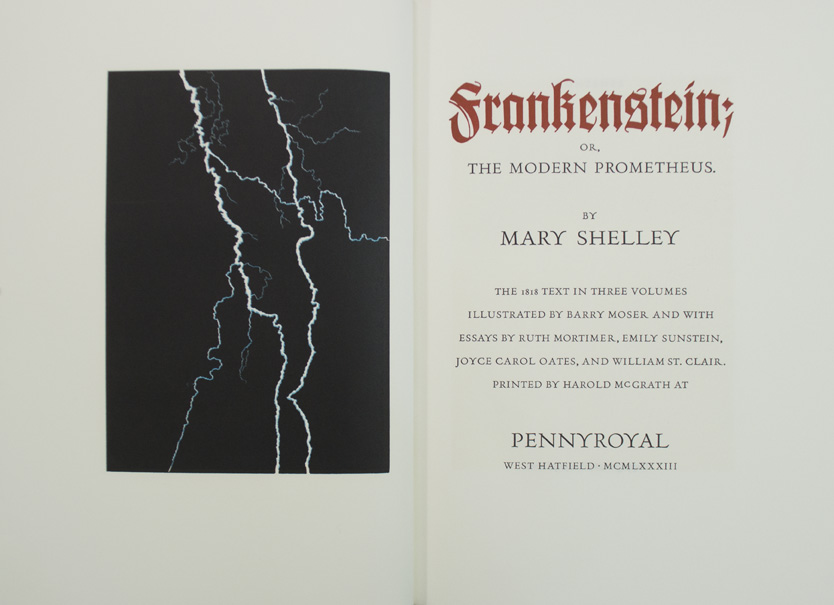 MOSER, Barry. SHELLEY, Mary Wollstonecraft. - Frankenstein; or, The Modern Prometheus.